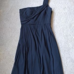 J. Crew Silk Chiffon Lucienne Dress Newport Navy 6